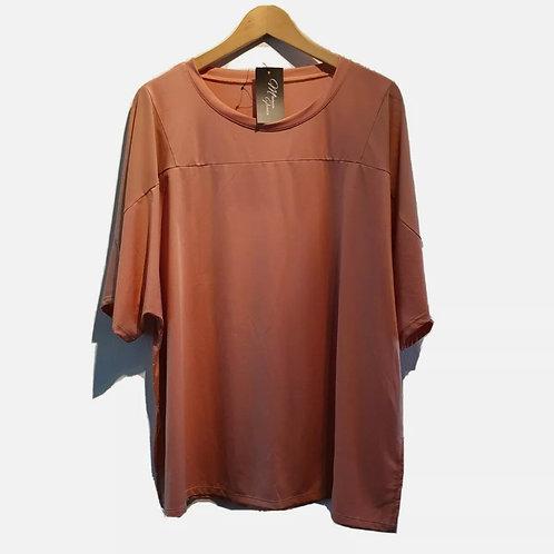 Mesh Shoulder Active T-Shirt (Dusty Pink)