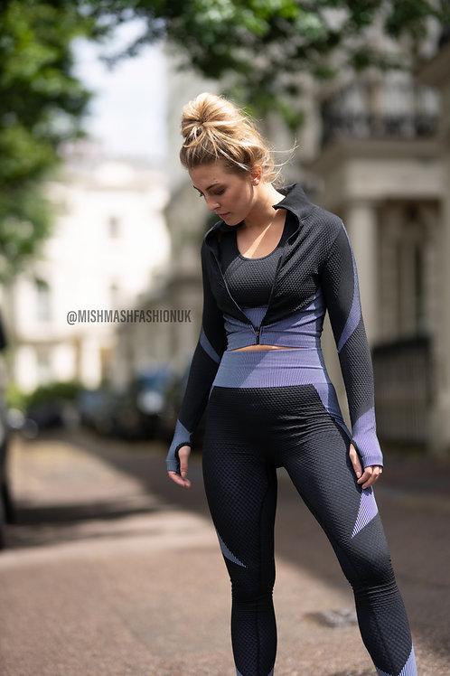 3 Piece Activewear Set (Grey)