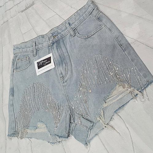 Bling Denim Shorts