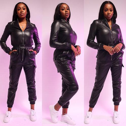 Supreme Leatherette Jumpsuit