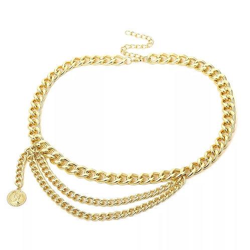 Gold Chunky Chain Belt