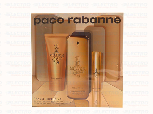 Paco Rabanne 1 Million Set 3pcs 3.4oz ( M )/7162