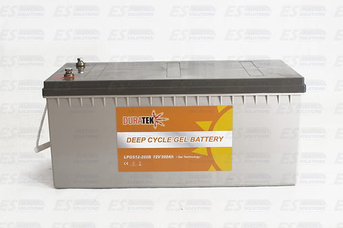 """Duratek Gel Battery 12 V 200Amp """"DURAS1200""""/7414"""