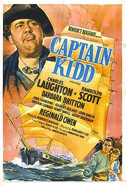 Cartel Capitan Kidd 1945 Cine Clásico Si