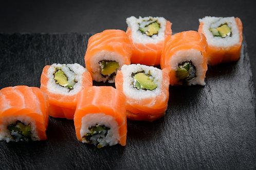 Spicy Philadelphia Salmon Uramaki Roll