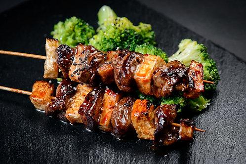 Beef Tenderloin, Celery and Brocoli
