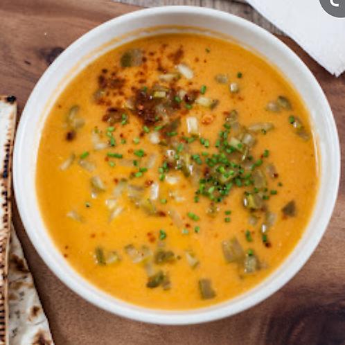 Supa de linte cu miel caramelizat