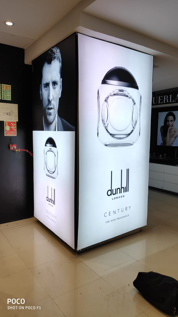 Column Backlit Box for Shoppers Stop