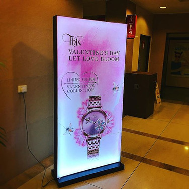 4'x 6' Double side free standing Frame backlit