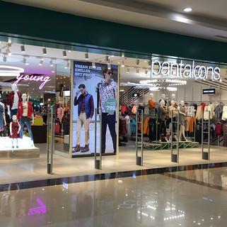 Pantaloons Store backlit frame installat