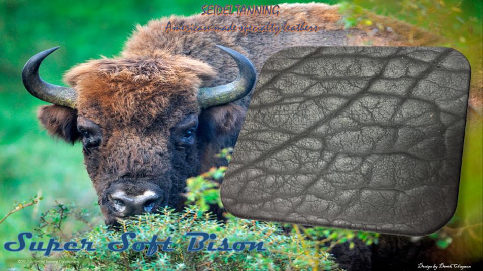 Super Soft Bison, Black ST-4488 7 1/2 - 8 1/2 OZ. (QTY-25 Sides)