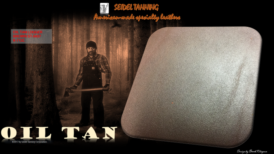 Oil Tan Logger, Brown ST-5437 5 1/2 -6 OZ. (115 sides available)