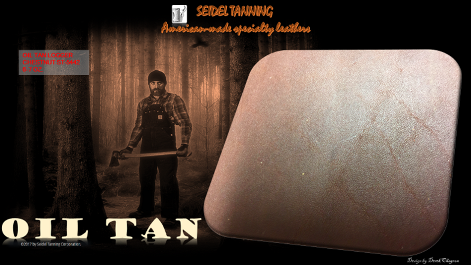 Oil tan logger chestnut ST-5442 6-7 OZ (30 Sides available)
