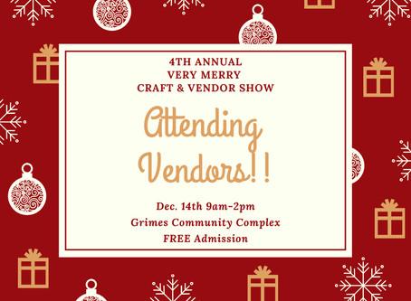 Very Merry Craft & Vendor Show (FREE ADMISSION)