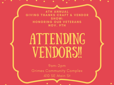Giving Thanks & Honoring Our Veterans (CRAFT SHOW)