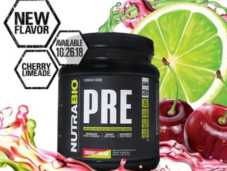 Nutrabio Pre Workout Now in Cherry Limeade!