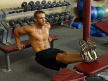 Elevated Bench Dips