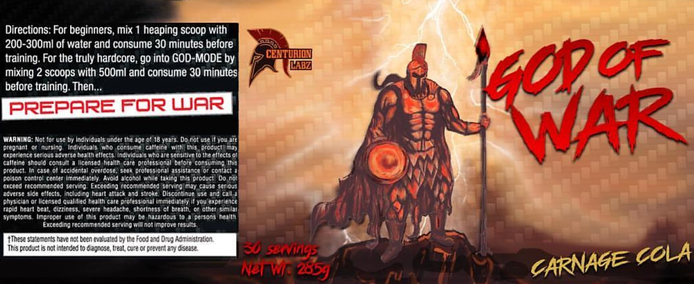 Centurion Labz God Of War Pre Workout