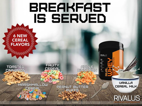 Rivalus Rival Whey Cereal Flavors Coming Soon