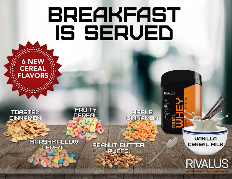 Rivalus Rival Whey Cereal Flavors