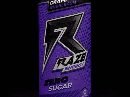 Raze Energy Drink Grape Bubblegum new flavor!