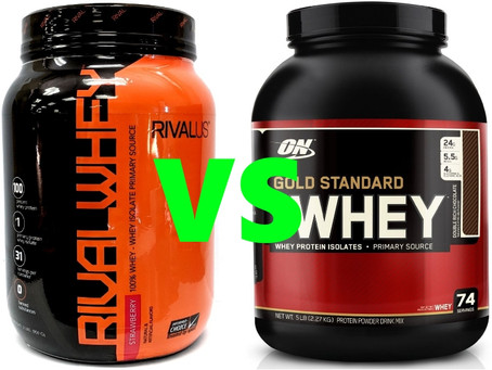 Rivalus Whey Vs Gold Standard