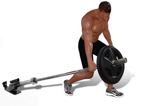 Barbell Suitcase Row