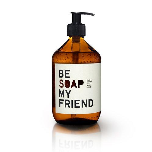 Savon mains/corps/visage à la mauve sauvage - Be Soap My Friend