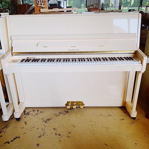 Piano Samick JS118D Crème Face occasion Caen Bonnaventure