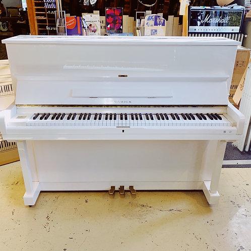 Piano samick 118 blanc Caen Bonnaventure Face