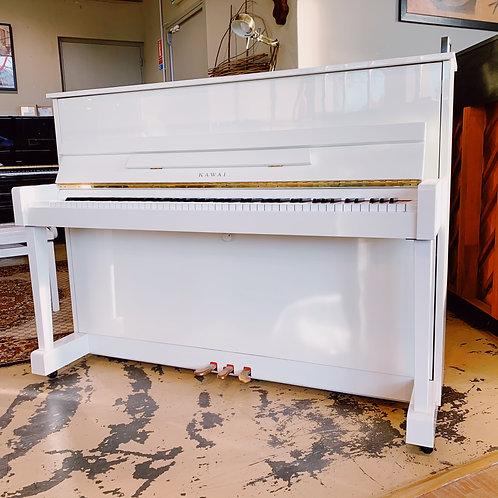 Occasion Piano droit Kawai Modèle CX5H Blanc Bonnaventure Caen Face ouvert