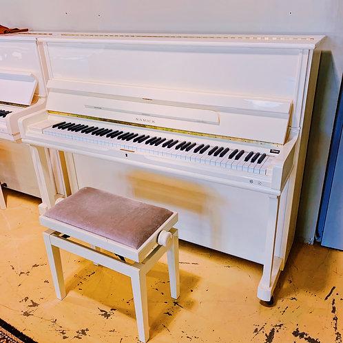 Piano Samick SU118SP Creme occasion caen aperçu face