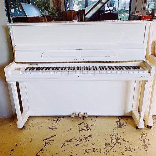 Piano Samick 118 Blanc Face IRL00204