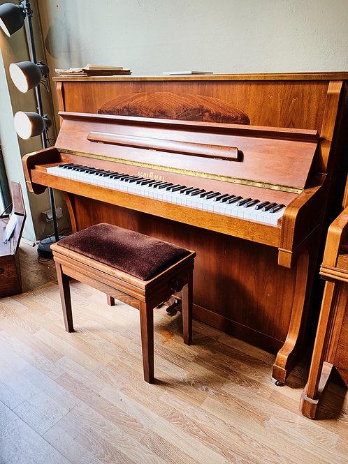 Occasion Piano Droit Schimmel modele 122 Elegance finition noyer satin Bonnaventure Caen