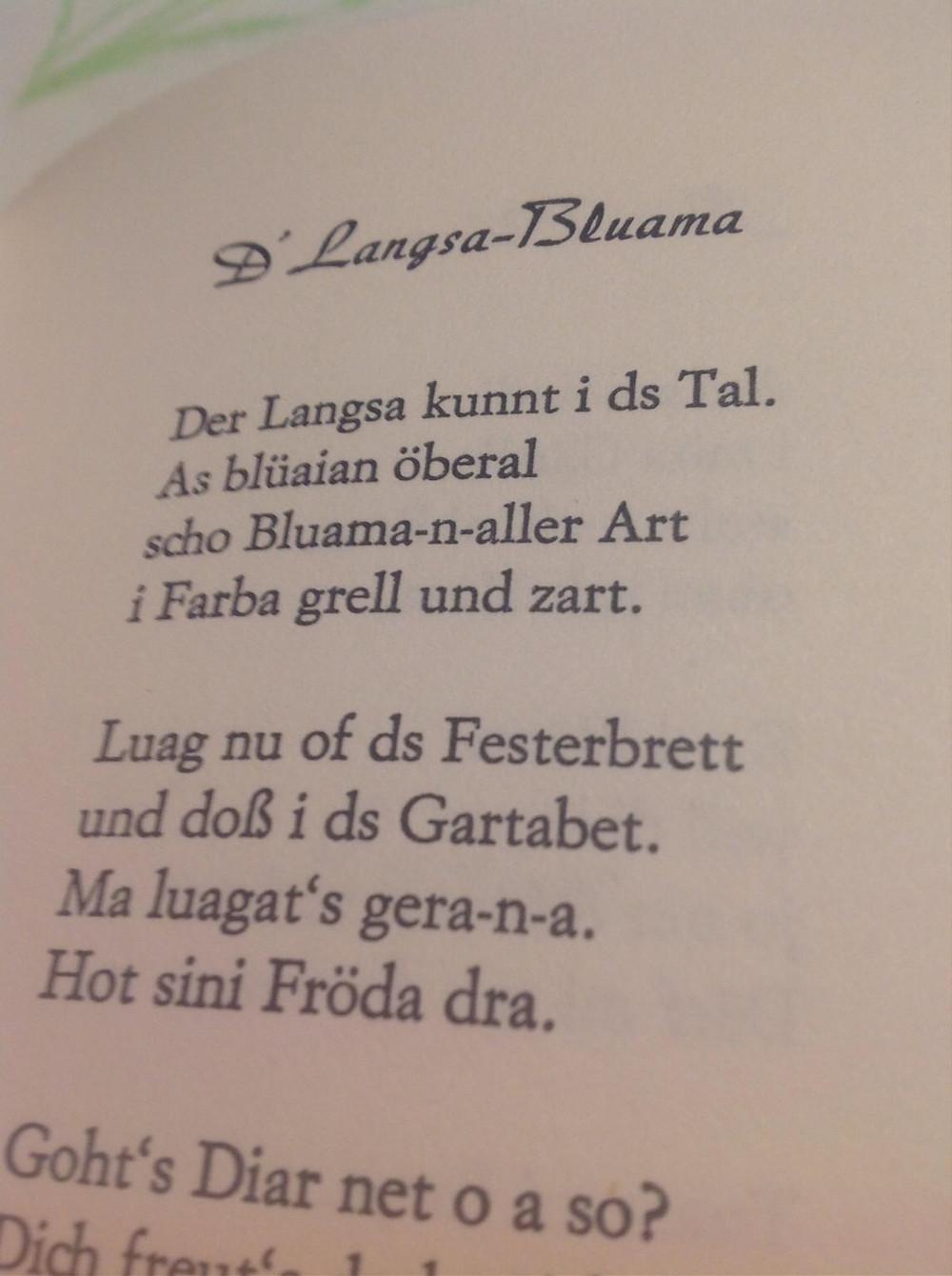 Frühlingsblumen Gedicht von Otto Borger