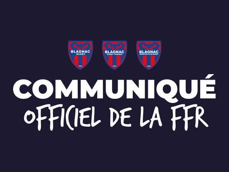 COMMUNIQUE OFFICIEL DE LA FFR