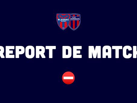 Rencontre face à Dijon reportée