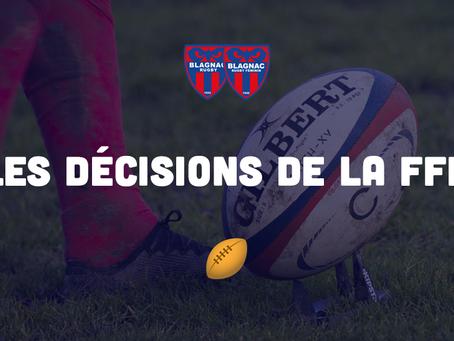 LES DECISIONS DE LA FFR