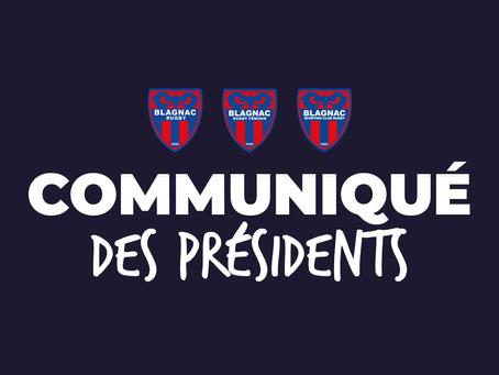 Le communiqué des présidents