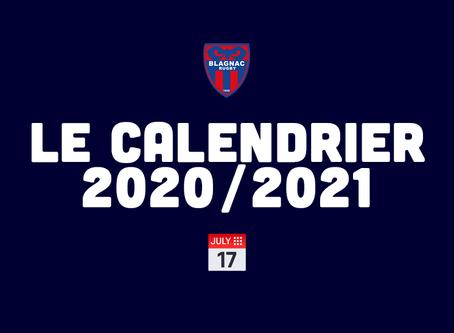 LE CALENDRIER NATIONALE 2020/2021