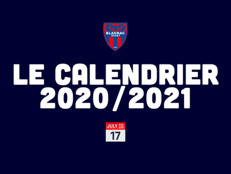 LE CALENDRIER NATIONALE 2020/2021