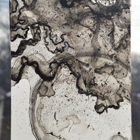black residue