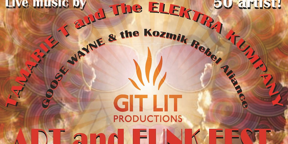 GIT LIT Productions Presents Abena art at The Chicago Art and Funk Fest at Cubby Bear