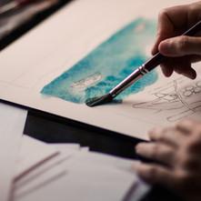 Pintura de acuarela
