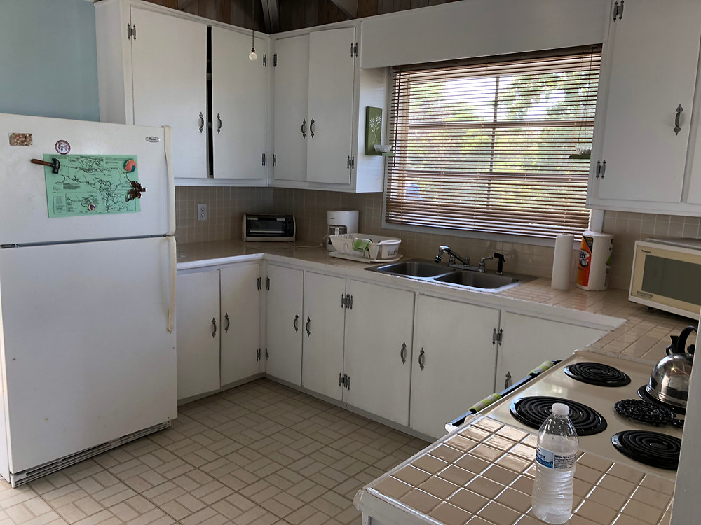The kitchen was functional and usable, but a little dated