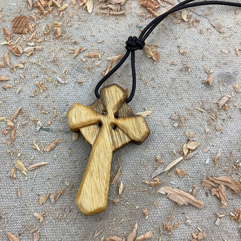 Acacia Cross Necklace with Nimbus