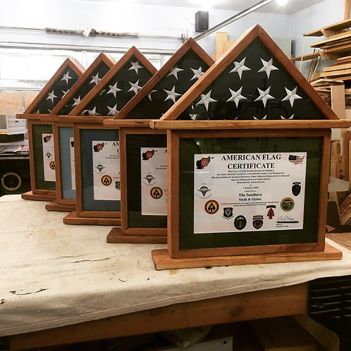 American Flag Certificate Display Case