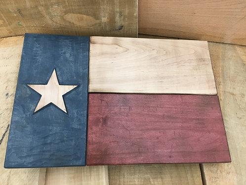 Hand-carved Texas Flag (small)