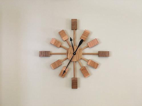 Mid Century Modern Wooden Wall Clock