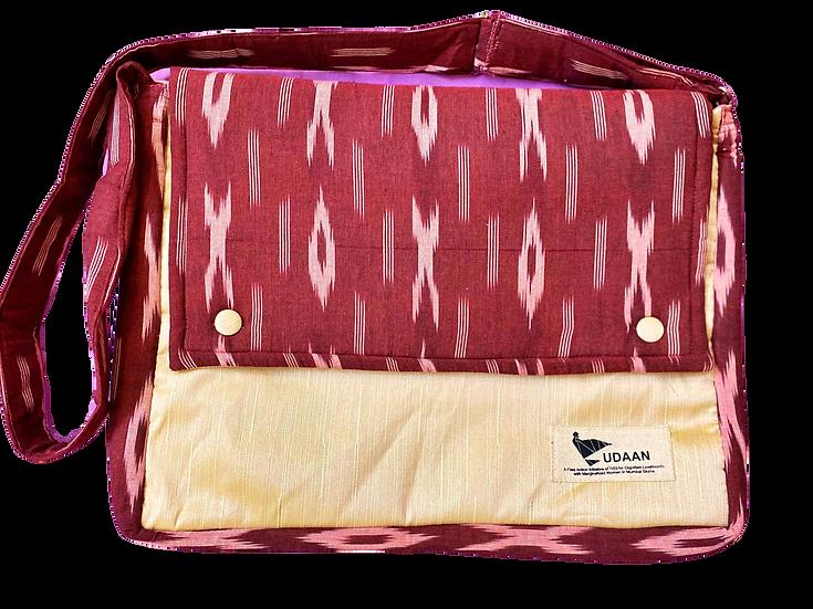 Scarlet Ikkat Laptop Bag